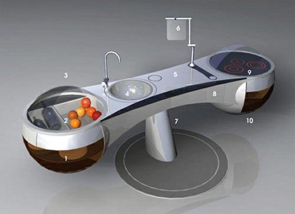 Concepts and ideas that save space in the kitchen Designcot : Futuristic dining table from www.designcot.com size 600 x 436 jpeg 44kB