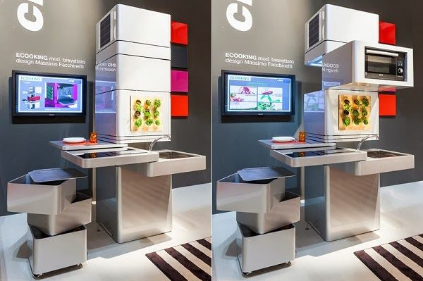Concepts And Ideas That Save Space In The Kitchen Designcot