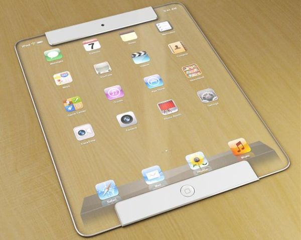 Transparent Apple iPad